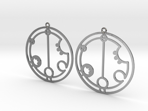 Gabriella - Earrings - Series 1 in Polished Silver