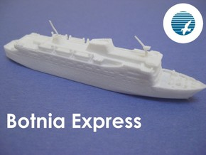MS Botnia Express (1:1200) in White Natural Versatile Plastic: 1:1200