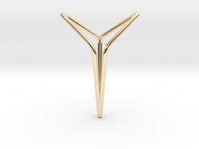 YOUNIVERSAL Y6, Pendant. Elegance in Motion in 14k Gold Plated Brass