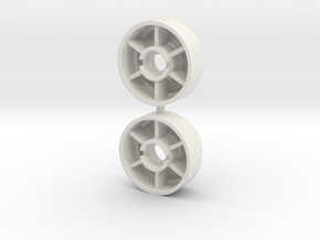 Mini-Z front rims Pt-02 +0 in White Natural Versatile Plastic