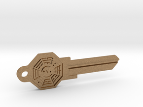 Bagua House Key Blank - KW11/97 in Natural Brass