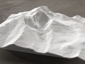 8'' Longs Peak Terrain Model, Colorado, USA in White Natural Versatile Plastic