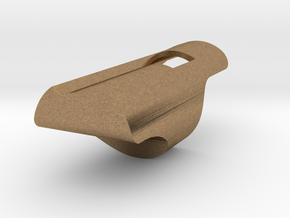Fipple Block in Raw Brass