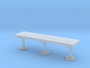 Miniature 1:48 Wood Slat Bench in Smooth Fine Detail Plastic