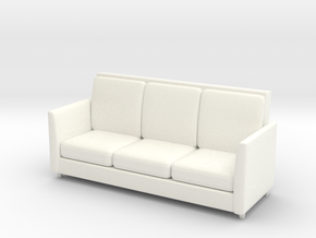 Miniature 1:48 Sofa 6 Foot in White Processed Versatile Plastic