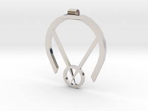 Passive Aggressive Pendant in Rhodium Plated Brass