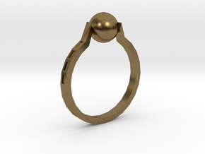 Twisted Ring in Natural Bronze