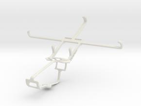 Controller mount for Xbox One & BLU Studio 6.0 HD in White Natural Versatile Plastic