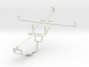 Controller mount for Xbox One & Celkon S1 in White Natural Versatile Plastic