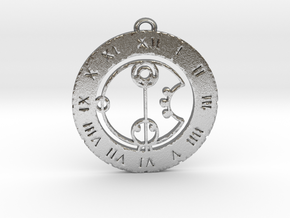 Charlie - Pendant in Natural Silver