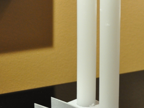 Factory candle holder in Black Natural Versatile Plastic