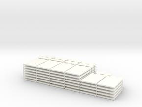 1/87 HO Fahrsilo-Wandelemente 3,5m - 2x 42,75m in White Processed Versatile Plastic