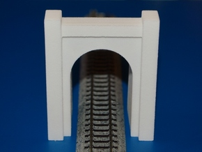 N-Scale SP&S Greenwood Cemetery Tunnel Portal in White Natural Versatile Plastic