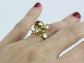 KNOT RING size 6 in Natural Brass