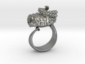 Octopus Ring  in Raw Silver: 6 / 51.5