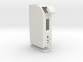 Box Mod With Dual 18650 Pack & DOOR & Buttons in White Strong & Flexible