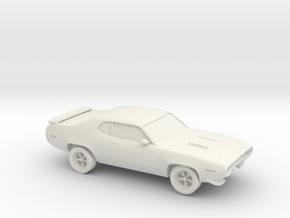 1/87 1970 Plymouth Roadrunner in White Natural Versatile Plastic