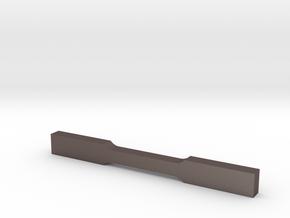 Tensile E8 Subsize Specimen in Polished Bronzed Silver Steel