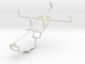 Controller mount for Xbox One & Motorola Moto E Du in White Natural Versatile Plastic