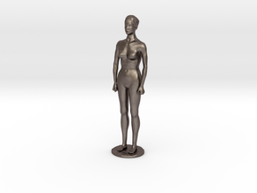 Nude Girl - big in Polished Bronzed Silver Steel