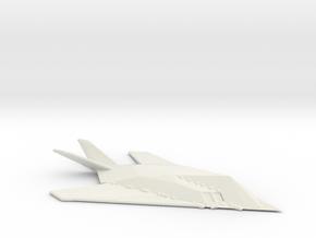 F117 Nighthawk in White Natural Versatile Plastic