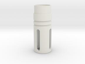 Jodocast's M4 Flash Hider in White Natural Versatile Plastic