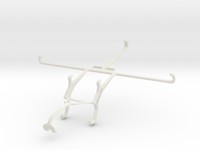 Controller mount for Xbox 360 & Samsung Galaxy Tab in White Natural Versatile Plastic
