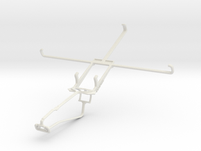 Controller mount for Xbox One Chat & Samsung Galax in White Natural Versatile Plastic