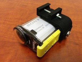 Sony Action Cam Picatinny Mount Adapter in Black Strong & Flexible