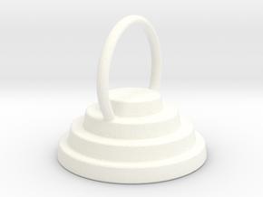 Devo Hat 15mm Earring / Pendant in White Processed Versatile Plastic