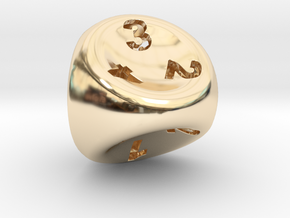 D4 in 14k Gold Plated Brass