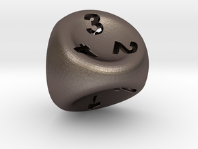D4 in Polished Bronzed Silver Steel