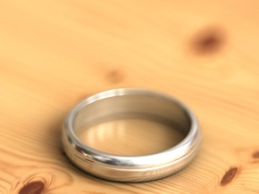 Geom ring in Fine Detail Polished Silver