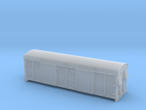 LMS 6wheel Milk Van body solid sides - 4mm scale in Smooth Fine Detail Plastic