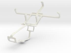 Controller mount for Xbox One & ZTE Nova 4 V8000 in White Natural Versatile Plastic