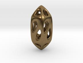 Geo Pendant in Natural Bronze