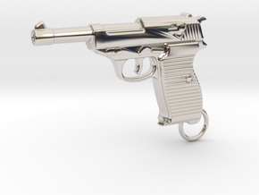 WALTHER P38 in Rhodium Plated Brass