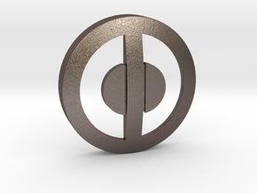 Deadpool-Belt Buckle Center- 80mm in Polished Bronzed Silver Steel