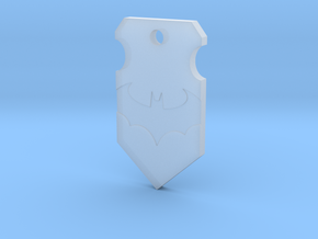 Caped Crusader Shield Pendant in Smooth Fine Detail Plastic