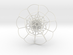 120-Cell on Hypersphere, Stereographic Projection  in White Natural Versatile Plastic
