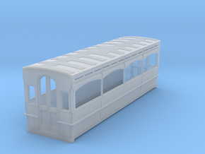 Bournemouth or Llandudno bogie tram saloon body.  in Frosted Ultra Detail