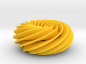 Spiral Torus No2 in Yellow Strong & Flexible Polished