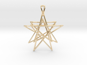 Reach for the Stars Pendant in 14k Gold Plated Brass
