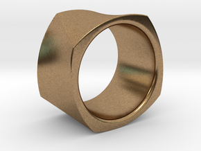 Motion Cube Ring Size 10/T in Natural Brass