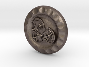 Golf Ball Marker Celtic in Polished Bronzed Silver Steel