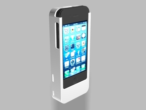 iPhone4/4s Nautilus 2500mah Charger with USB Out in White Natural Versatile Plastic