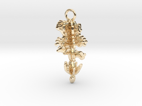 Flowers Pendant in 14K Yellow Gold