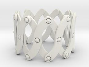 Expandable Bracelet SO in White Natural Versatile Plastic