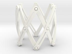 Expandable structure Bracelet XL in White Processed Versatile Plastic