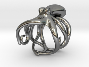 Octopus Ring 19mm in Premium Silver